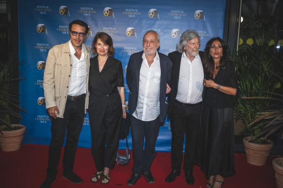 Nicolas Bedos, Emmanuel Devos et François Berléand lors de l'avant-première du film La Boîte noire