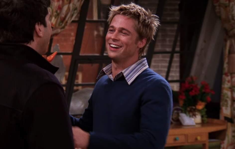 """En couple à l'époque avec Jennifer Aniston à la ville, Brad Pitt a incarné un """"détesteur de Rachel Green"""". Hilarant !"""
