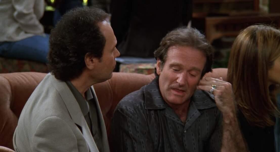 Oui, oui, c'est bien Robin Williams et Billy Crystal qui sont assis sur la canapé du Central Perk