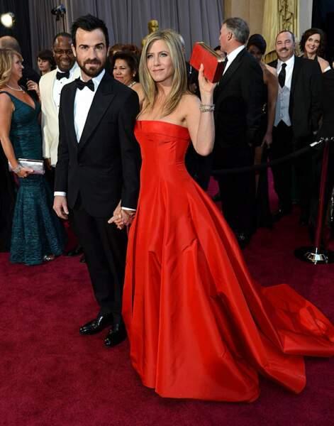 """En 2012, Jennifer Aniston dit """"oui"""" de nouveau, à l'acteur Justin Theroux dont elle est aujourd'hui séparée"""