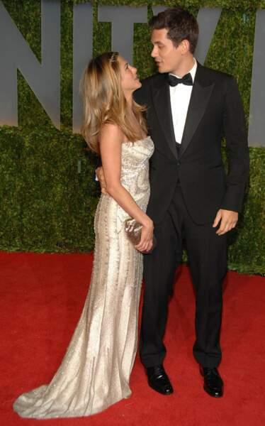 Aux Oscars 2009, elle est sous le charme du chanteur John Mayer