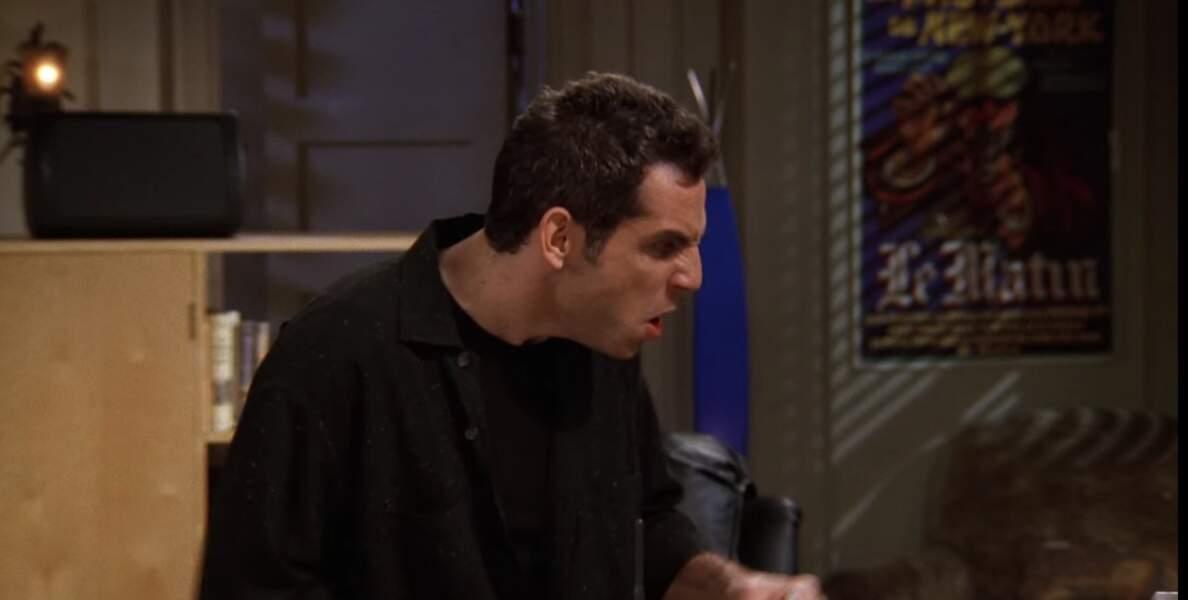 Invité culte : Ben Stiller, alias un petit ami de Rachel qui hurle sur tout le monde et même...sur les poussins de Chandler et Ross !