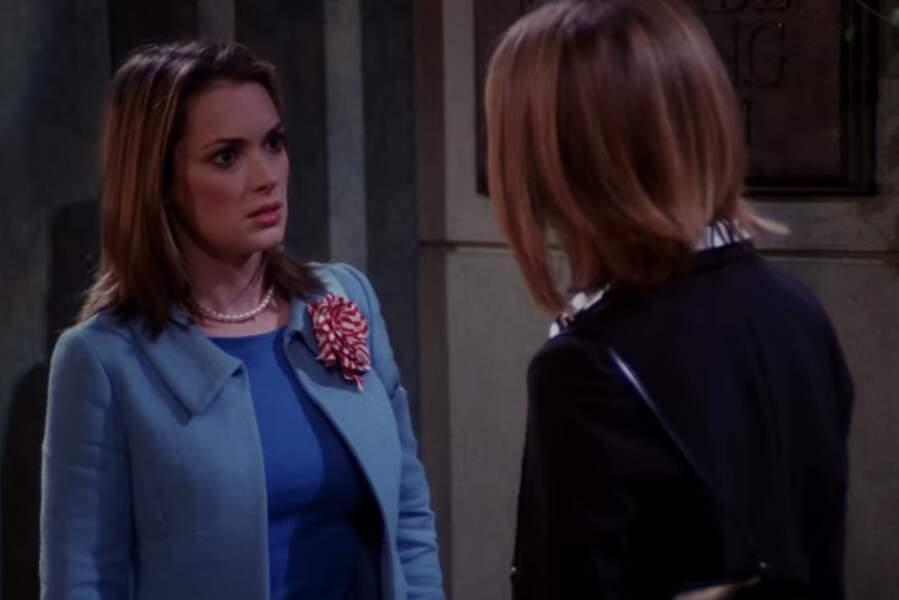 Rachel n'a pas eu que des prétendants hommes : son ex-copine de fac Melissa, interprétée par Winona Ryder, en pinçait aussi pour elle