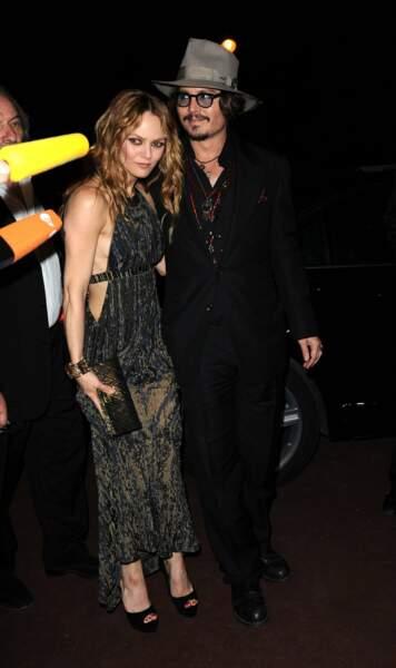2010. Avec Johnny Depp pour une soirée Chanel, quand ils formaient le plus beau des couples