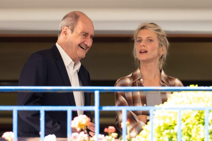Pierre Lescure et Melanie Laurent lors du dîner du jury le 5 juillet