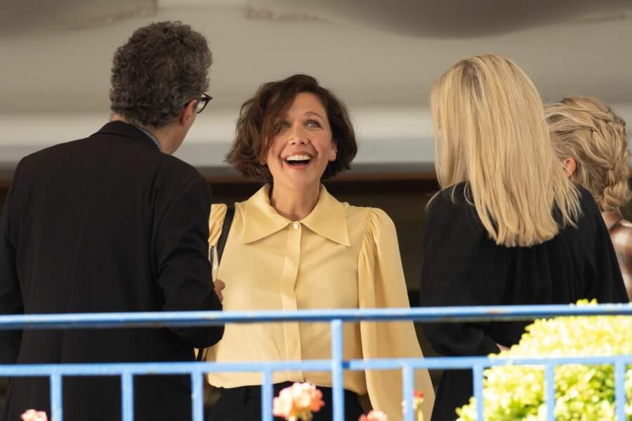 Maggie Gyllenhaal lors du dîner du jury le 5 juillet