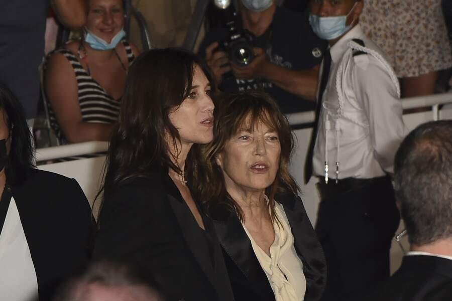 Charlotte Gainsbourg et Jane Birkin, juste avant la projection de Jane By Charlotte
