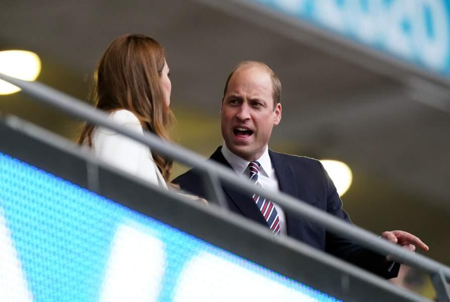Kate Middleton et le prince William au stade de Wembley pour la finale de l'Euro Angleterre-Italie
