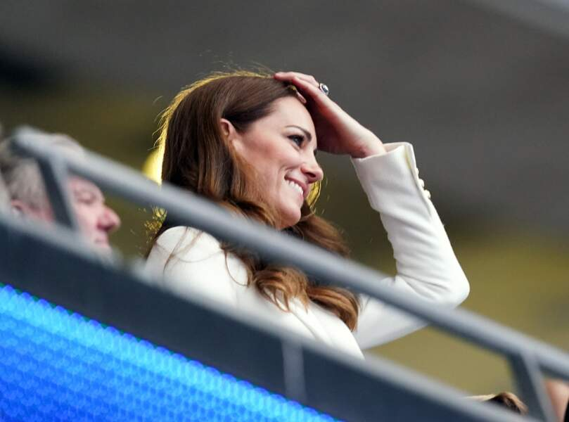 Kate Middleton au stade de Wembley pour la finale de l'Euro Angleterre-Italie