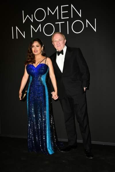 L'actrice était ce 11 juillet au bras de son mari François-Henri Pinault à l'occasion d'une soirée mettant en valeur les femmes dans le cinéma.