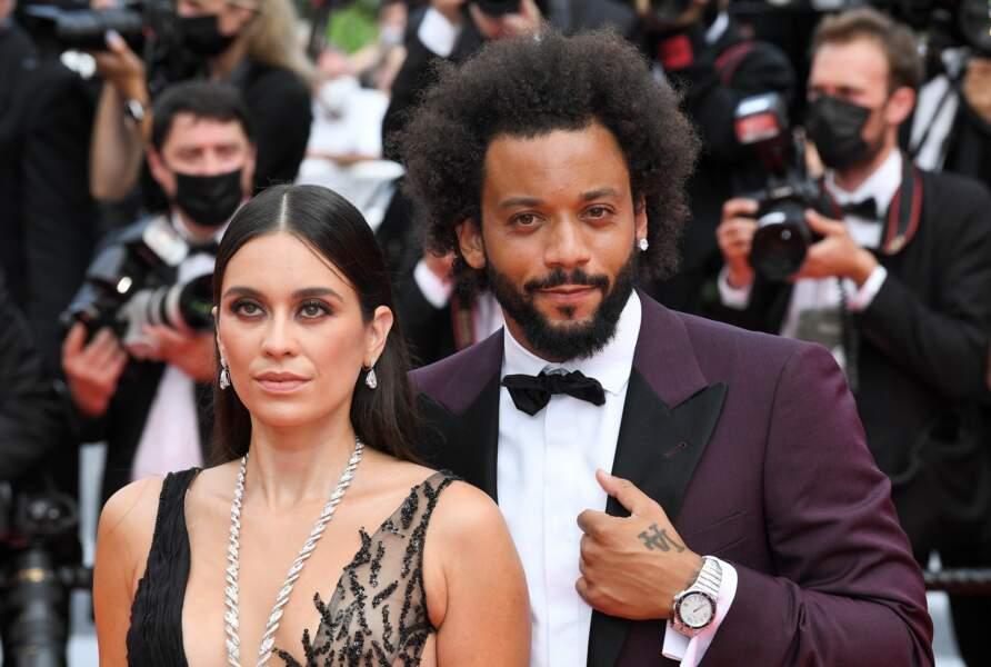 Le footballeur Marcelo et sa femme Clarisse Alves