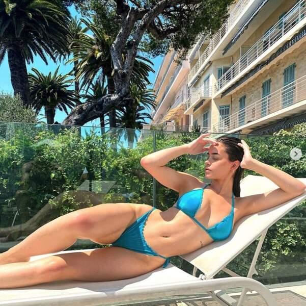 Léa Elui, elle, avait opté pour un bikini turquoise.