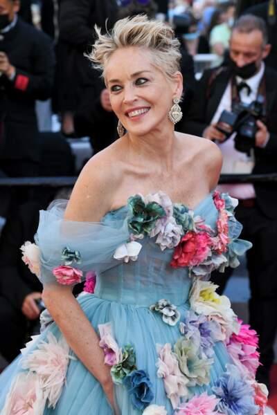 Sharon Stone a illuminé Cannes par sa présence