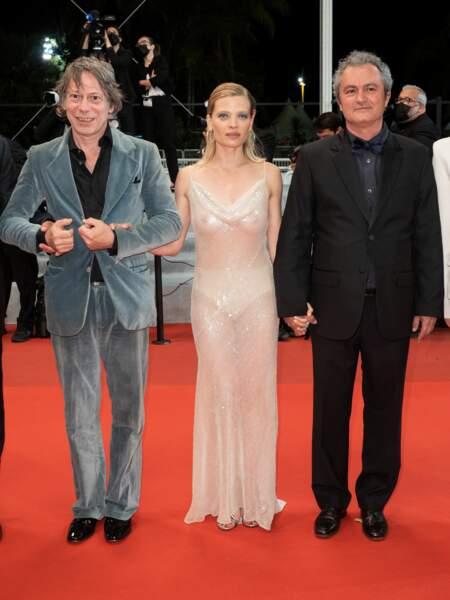 Mathieu Amalric, Mélanie Thierry et Jean-Marie Larrieu