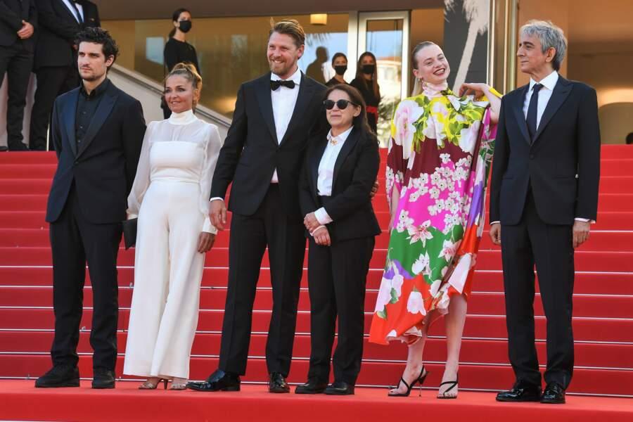 L'équipe du film The Story Of My Wife (A feleségem története) : Louis Garrel, Monika Mecs, Gijs Naber, Ildiko Enyedi, Luna Wedler et Sergio Rubini
