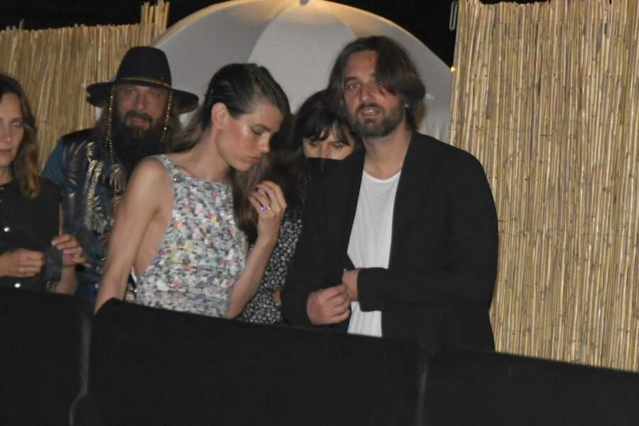 Charlotte Casiraghi et Dimitri Rassam lors de la soirée Chanel à Cannes.