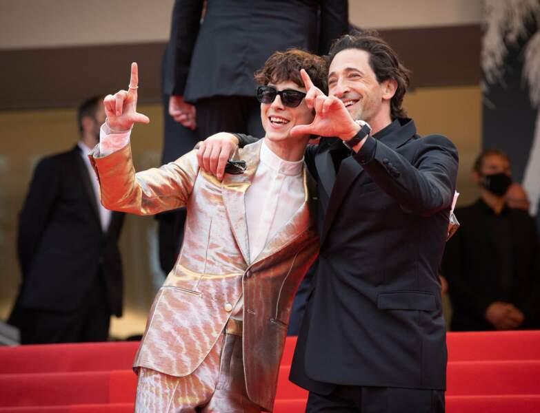 Timothée Chalamet et Adrien Brody voient la vie en cinémascope.