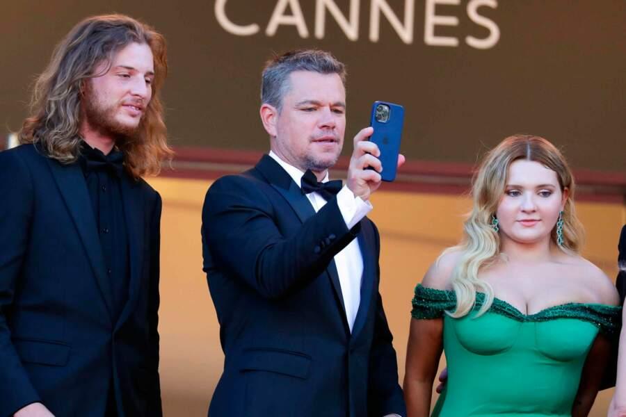 Matt Damon garde un souvenir de sa montée des marches ...