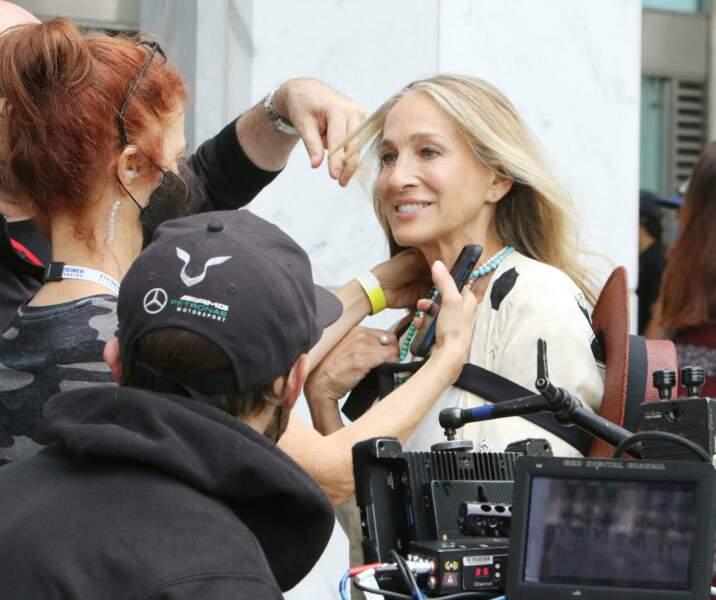 Sarah Jessica Parker en plein tournage