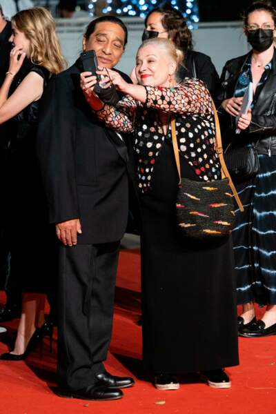 Mariés depuis 2003, Josiane Balasko est venue avec son mari George Aguilar