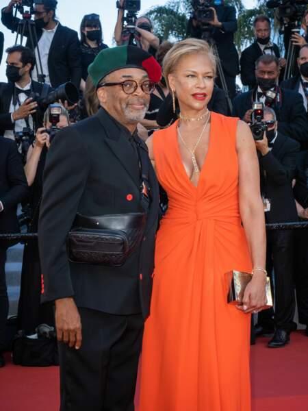 Le président du jury, Spike Lee, est venue accompagné de sa femme Tonya Lewis.