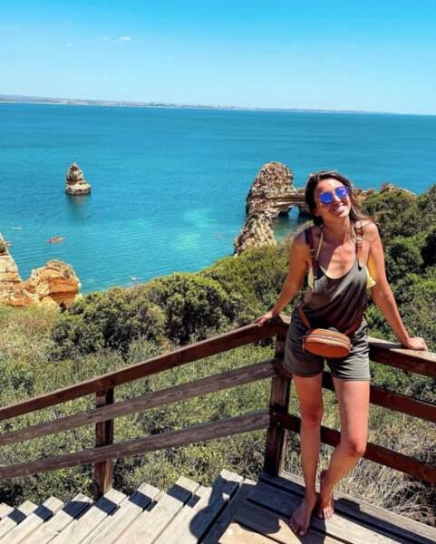 Delphine Wespiser a profité du soleil du Portugal
