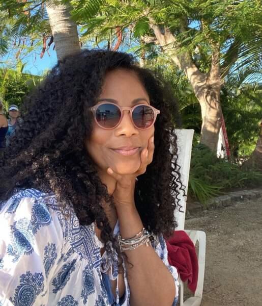 Christine Kelly profite elle aussi de vacances sous le soleil
