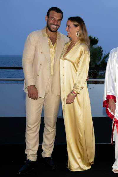 Maxime Giaccardi et Pauline Ducruet ont assisté au gala Fight Aids Monaco 2021, samedi 24 juillet, à Monte-Carlo.
