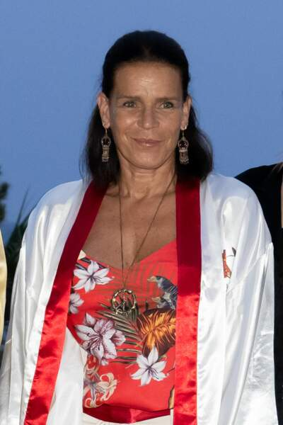 La princesse Stéphanie de Monaco a assisté au gala Fight Aids Monaco 2021, samedi 24 juillet, à Monte-Carlo.