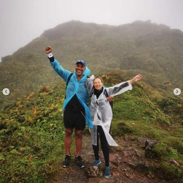 Et randonnée en duo sur le Mont Pelé pour Valérie Trierweiler et sa moitié Roman Magellan.