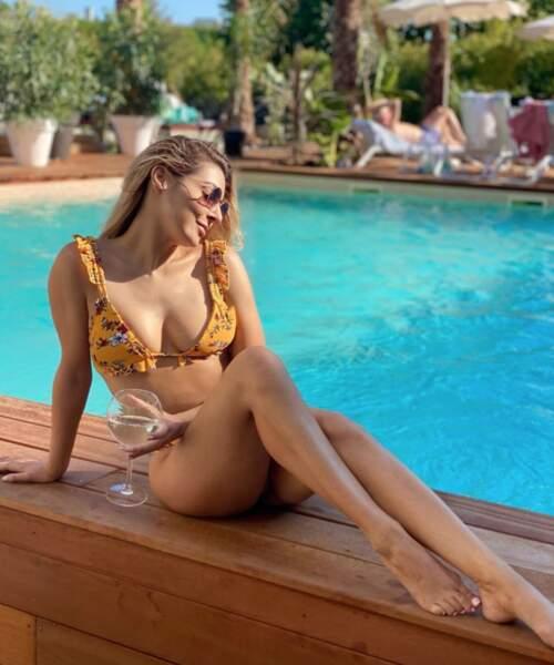 Apéro-piscine pour Candice Pascal à Aix-en-Provence.