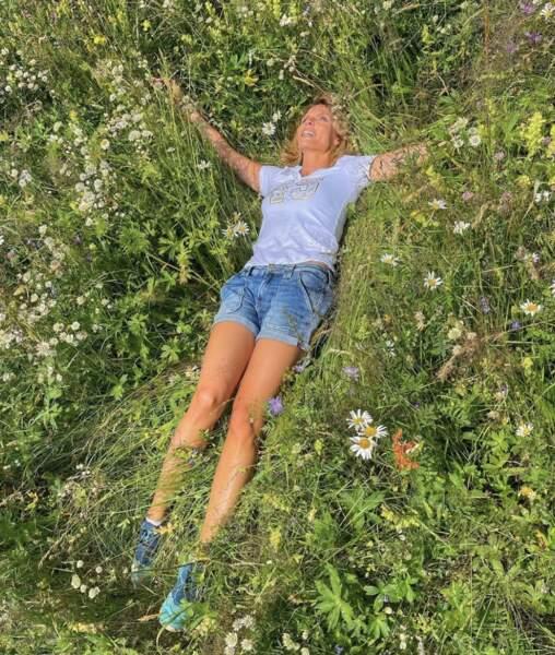 Entre la plage et la montage, Sylvie Tellier, ici à Valmorel (Savoie), se régale !