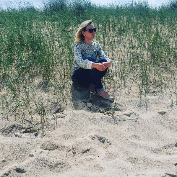 Justine Cordule profite de l'air marin