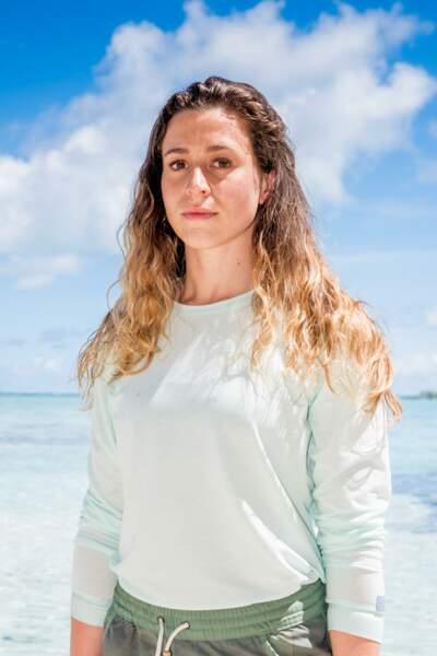 Candice Boisson, 24 ans Eliminée à l'orientation de Koh-Lanta : L'île au trésor (2016), candidate du Combat des héros (2018). La benjamine de cette édition.