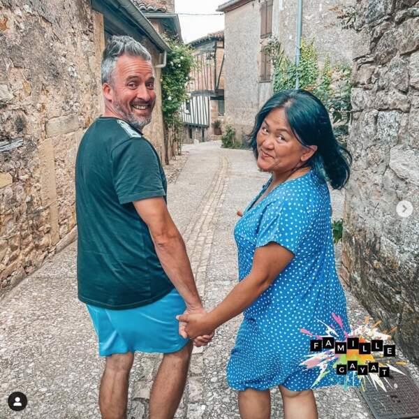 Petite balade en amoureux pour Olivier et Soukdavone Gayat
