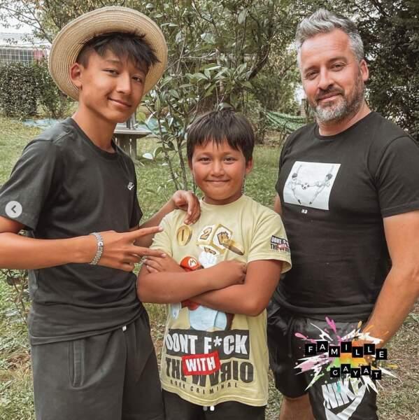 Olivier Gayat et ses deux fils se sentent bien seuls cette semaine