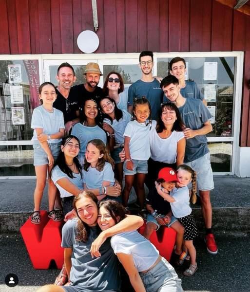 Les Blois et leurs amis tout sourire au Cap Ferret