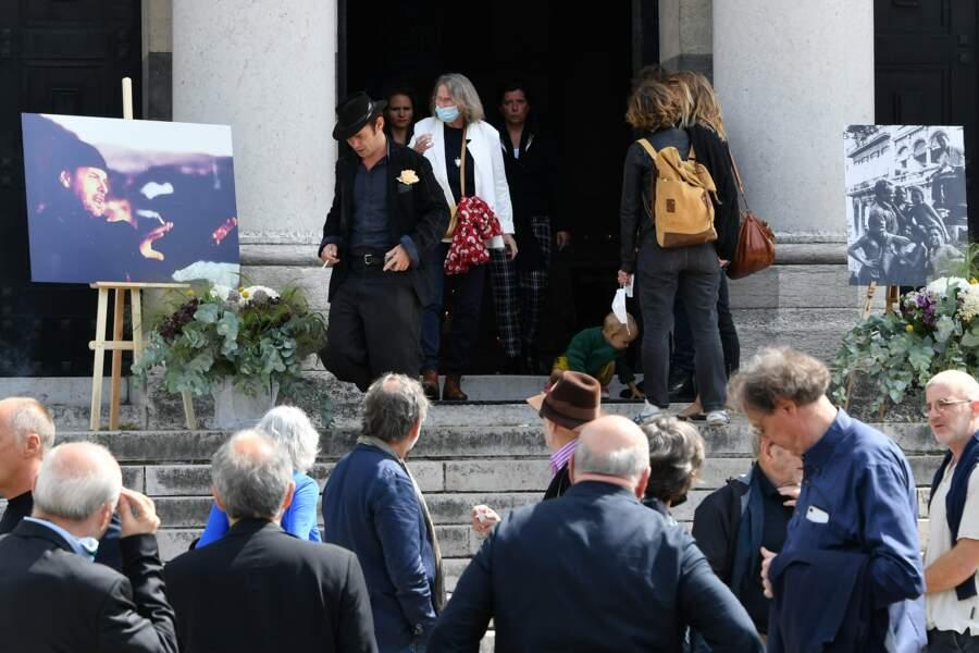 Obsèques de Jean-François Stévenin au Père-Lachaise à Paris