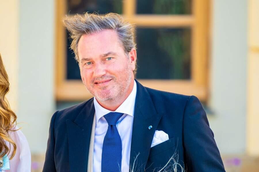 Christopher O'Neill, homme d'affaires britannique, a épousé la princesse Madeleine en 2013. Il a assisté au baptême du prince Julian, samedi 14 août, à Drottningholm.