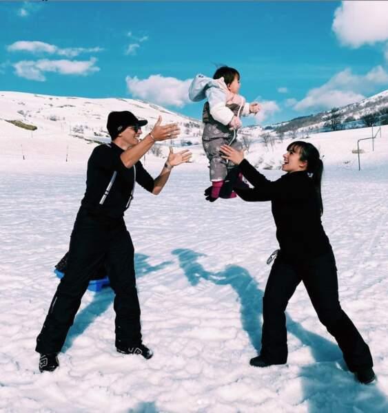Les joies de la neige en famille
