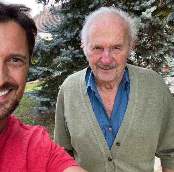 Vincent Cerutti et son pépé de 88 ans, surnommé Le Patron.