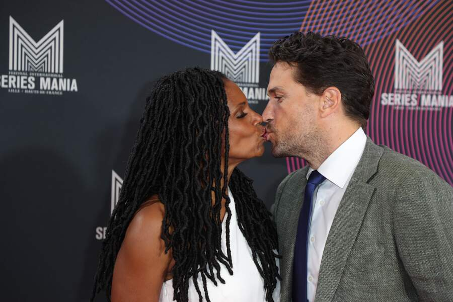 La star américaine Audra Mac Donald embrasse son compagnon Will Swenson