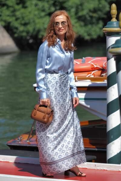 La comédienne Isabelle Huppert est bien arrivée en Italie.