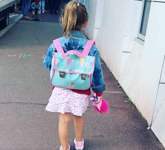 Bianca, la fille de Laura Tenoudji et Christian Estrosi, a été accompagnée à l'école par son papa, maman étant à Télématin !