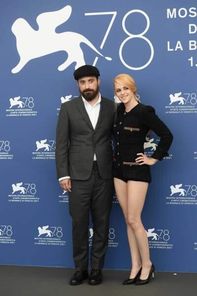 Kristen Stewart et Pablo Larraín à la 78ème édition de la Mostra de Venise