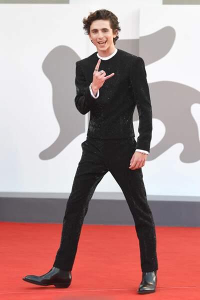 Timothée Chalamet très heureux de présenter le film dans lequel il tient le rôle principal