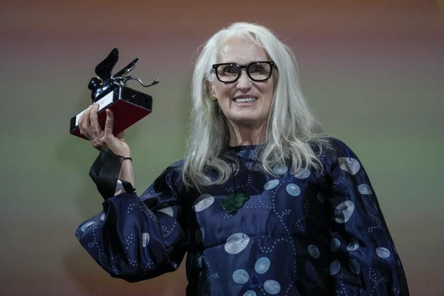 La cinéaste Jane Campion a reçu le prix de la meilleure réalisation pour The Power of Dog