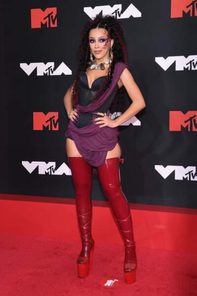 Doja Cat, maîtresse de cérémonie des MTV Video Music Awards 2021 à New York.