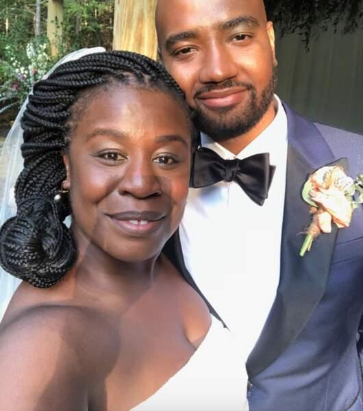 """Toutes nos félicitations à l'actrice Uzo Aduba, qui a dit """"oui"""" à sa moitié Robert Sweeting... l'an dernier ! Cachotière."""