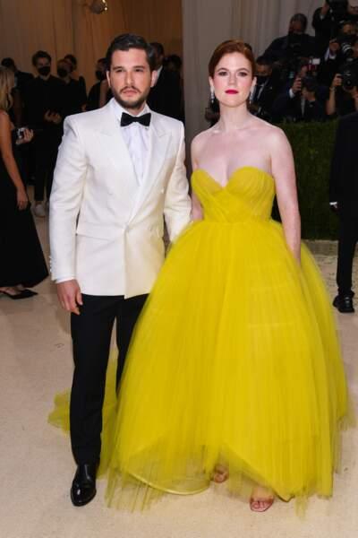 Kit Harington et Rose Leslie, qui s'étaient rencontrés sur le tournage de Game of Thrones.